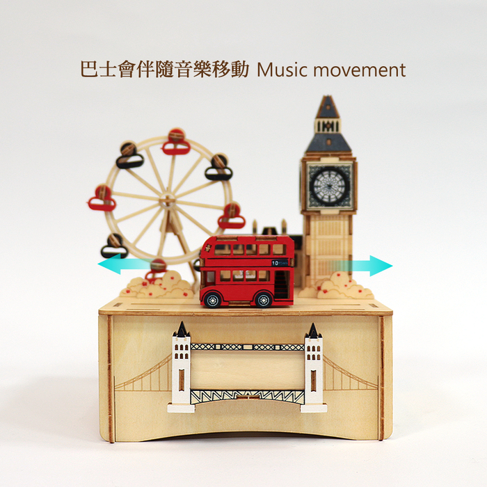 Team Green|3D木拼圖 彩色音樂盒-倫敦
