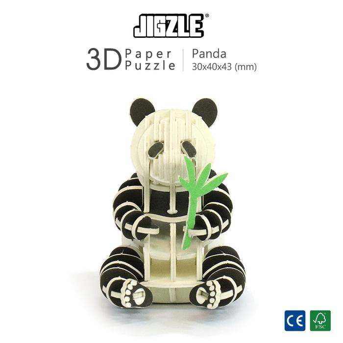 Team Green|3D紙拼圖 熊貓