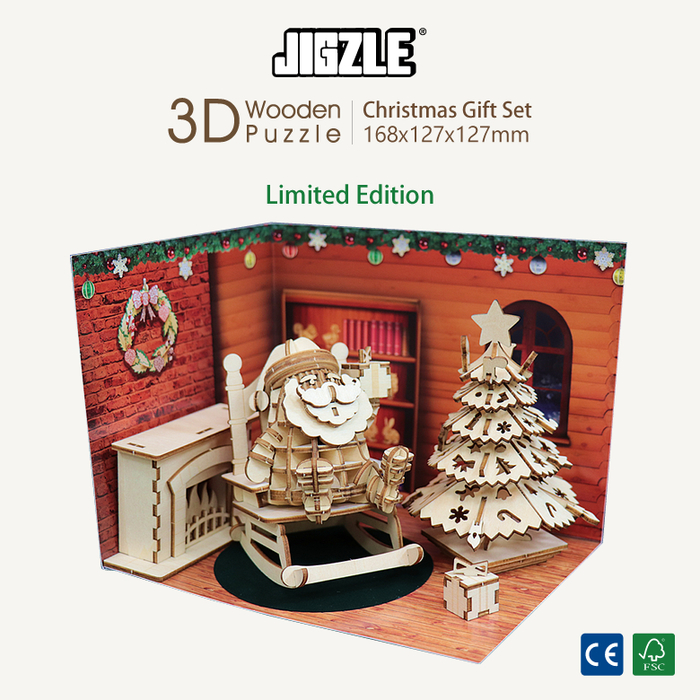 Team Green 3D木拼圖 聖誕節禮品套組-限量版