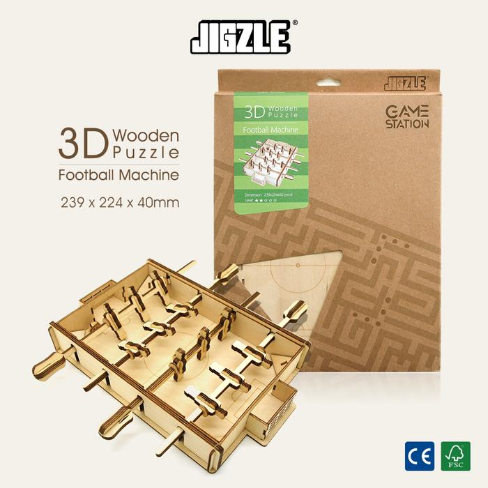 Team Green|3D木拼圖 Game-Station-足球機