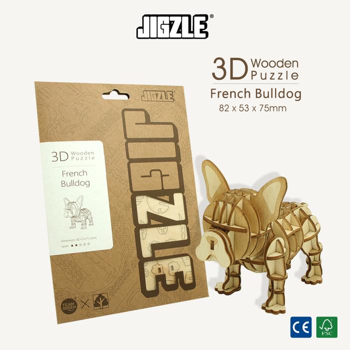 Team Green|3D木拼圖 法國鬥牛犬