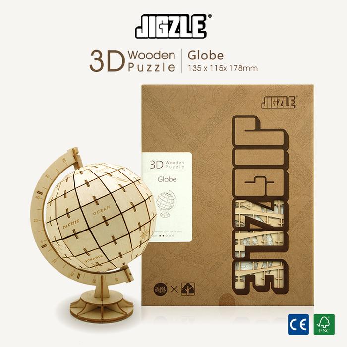 Team Green|3D木拼圖 地球儀