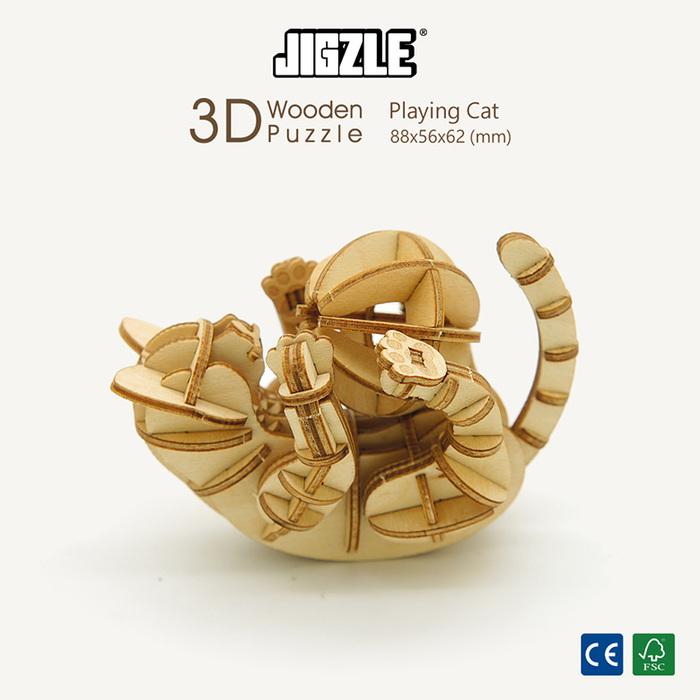 (複製)JIGZLE|3D木拼圖 財神爺-(大)