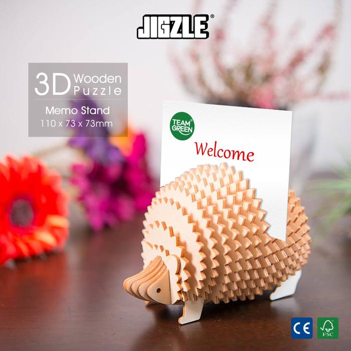 Team Green|3D木拼圖 刺蝟型名片架