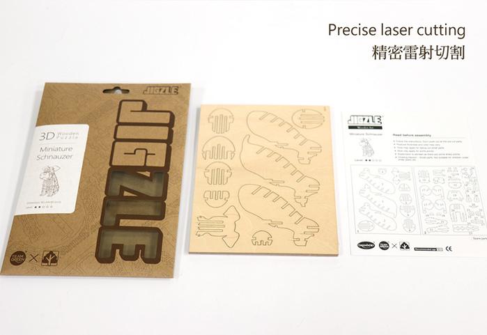 (複製)JIGZLE|3D木拼圖 法國鬥牛犬