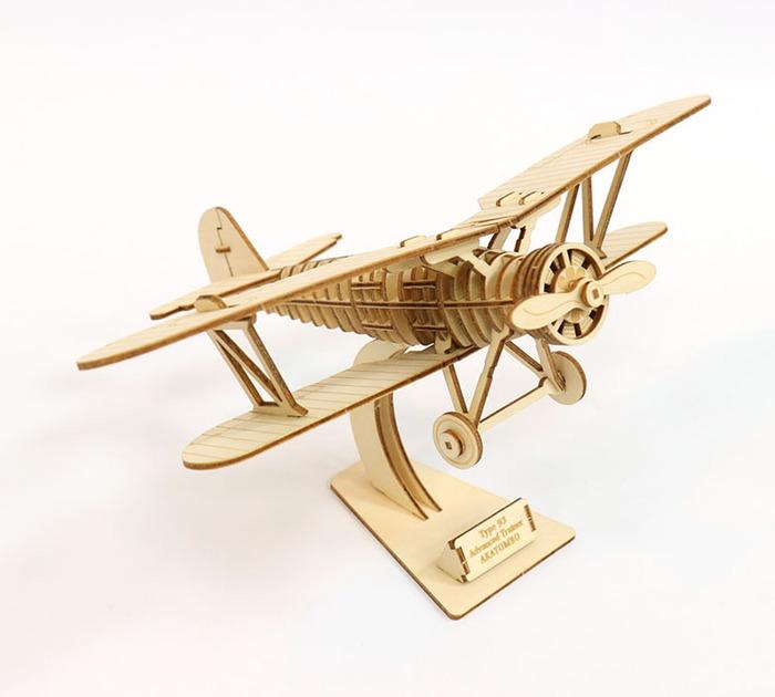 JIGZLE|3D木拼圖 雙翼飛機