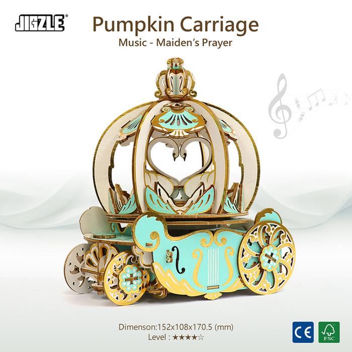 (複製)JIGZLE|3D木拼圖 彩色音樂盒-旋轉木馬