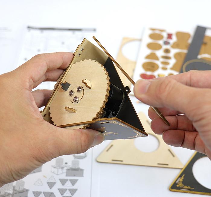 JIGZLE|3D木拼圖 彩色音樂盒-聖誕節系列