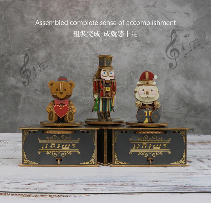 JIGZLE|3D木拼圖 彩色音樂盒-聖誕節系列套組