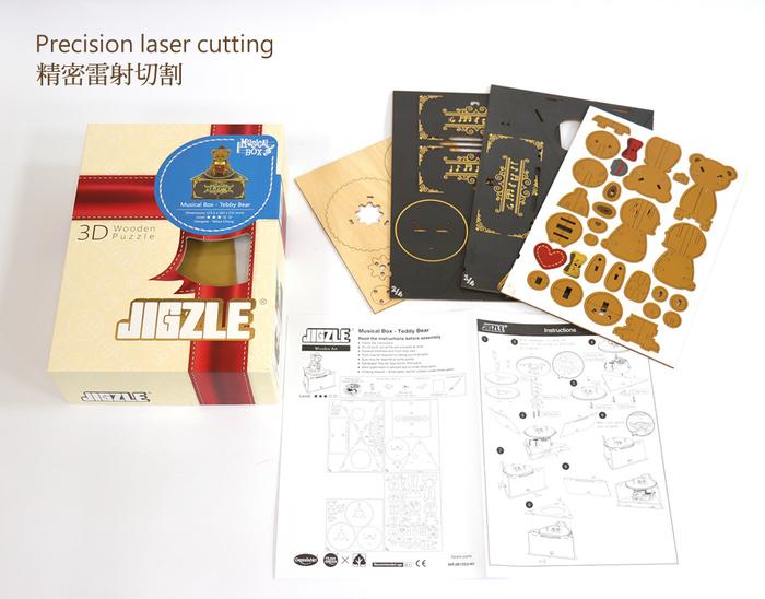 (複製)JIGZLE|3D木拼圖 彩色聖誕節音樂盒-聖誕樹