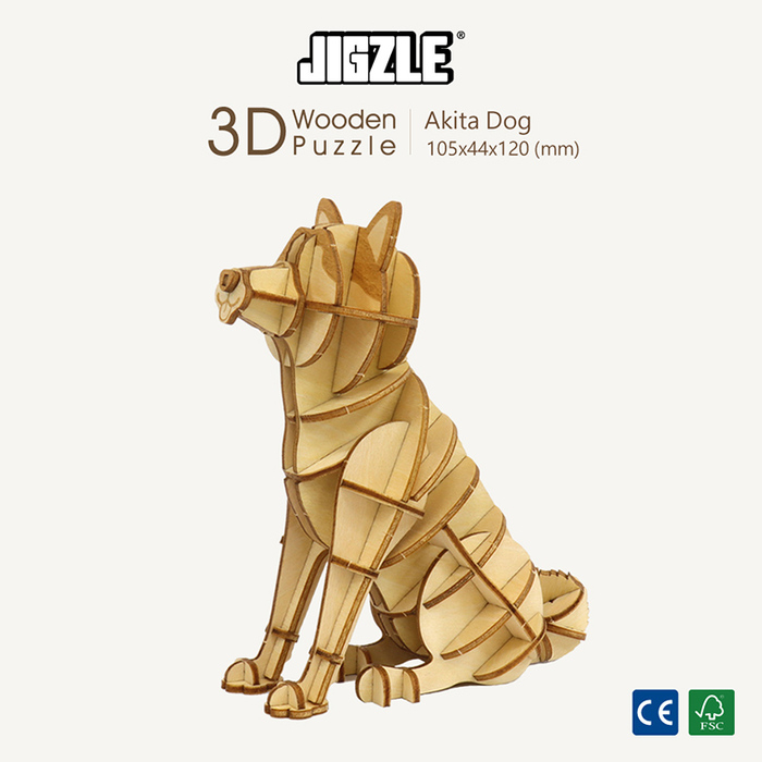 (複製)JIGZLE|3D木拼圖 黃金獵犬