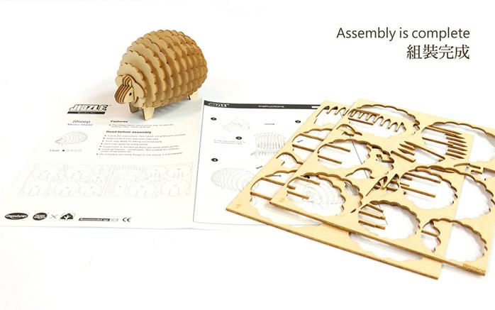 (複製)JIGZLE|3D木拼圖 貓咪樂園+紙靜態貓