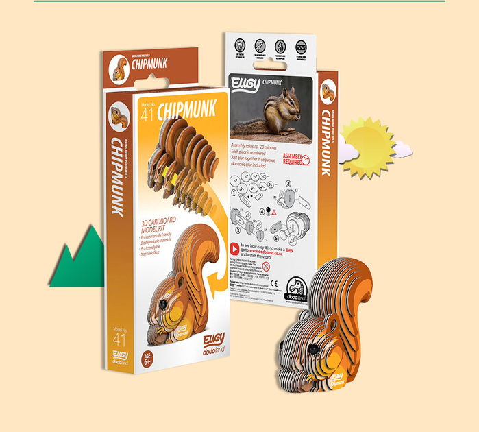 DODOLAND |3D紙板拼圖-松鼠