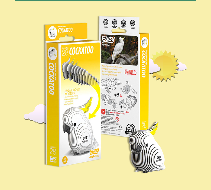 (複製)DODOLAND  3D紙板拼圖-翠鳥