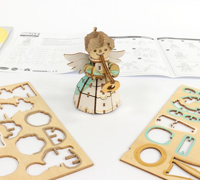 (複製)JIGZLE|3D木拼圖 彩色魯道夫-層層疊