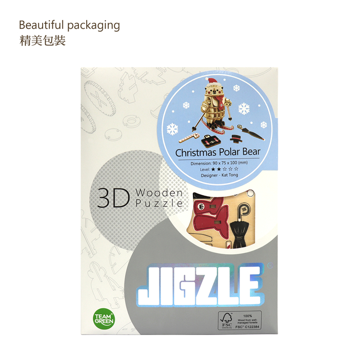 (複製)JIGZLE|3D木拼圖 彩色聖誕天使
