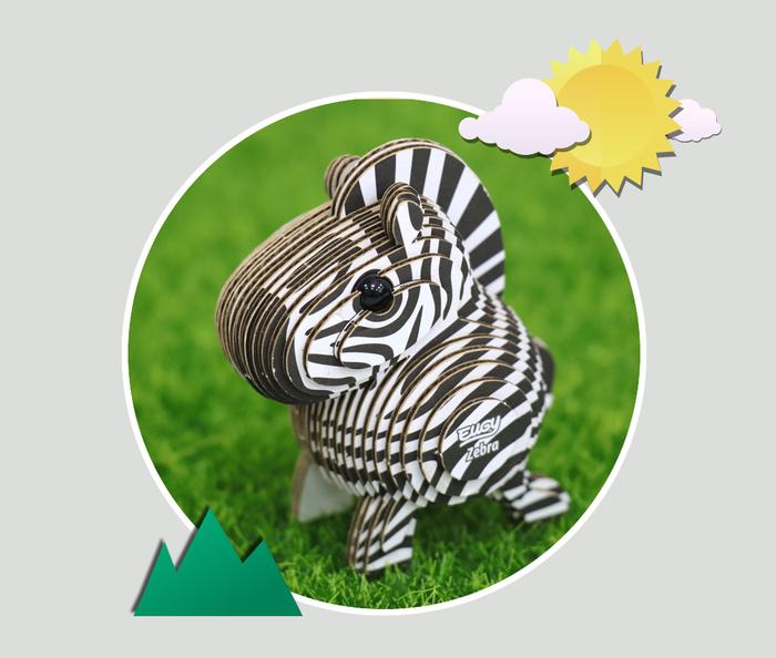EUGY DODOLAND |3D紙板拼圖-斑馬