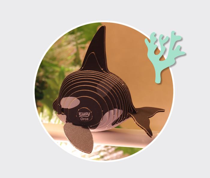 EUGY DODOLAND  3D紙板拼圖-虎鯨