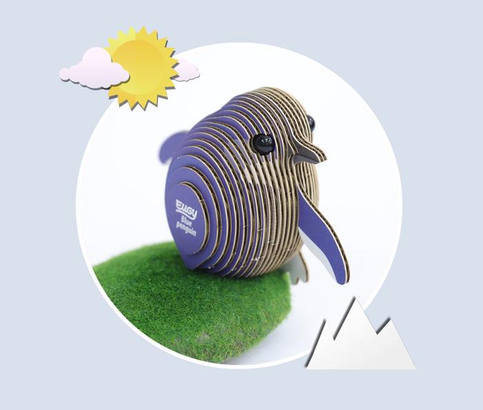 EUGY DODOLAND |3D紙板拼圖-企鵝