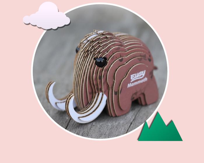 EUGY DODOLAND |3D紙板拼圖-猛瑪象
