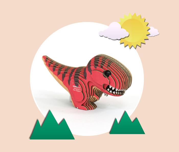 EUGY DODOLAND |3D紙板拼圖-暴龍