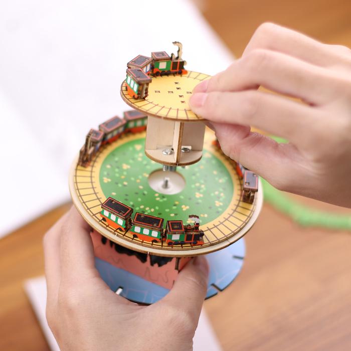 (複製)JIGZLE 3D木拼圖 彩色音樂盒-探險系列-大海曆奇