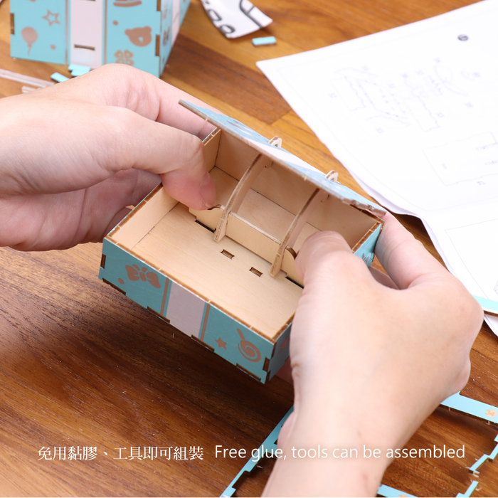 (複製)JIGZLE|3D木拼圖 彩色音樂盒-探險系列-林幽探秘