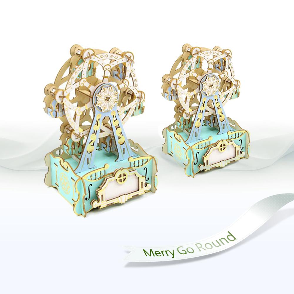 JIGZLE|3D木拼圖 彩色音樂盒-摩天輪
