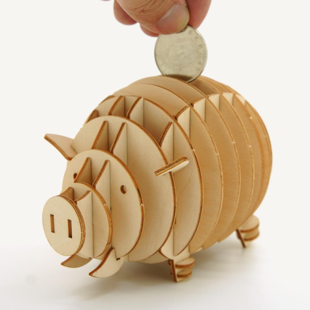 JIGZLE|3D木拼圖 小豬存錢筒