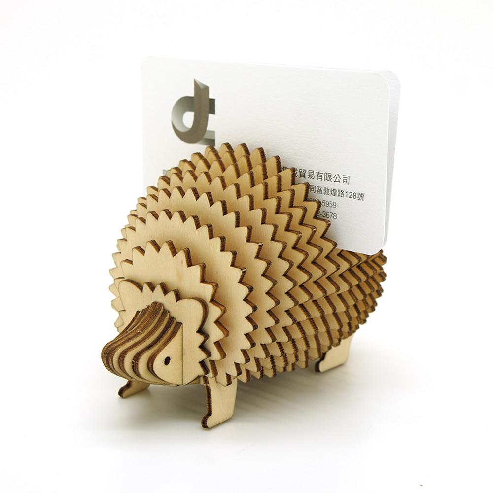 JIGZLE|3D木拼圖 刺蝟型名片架