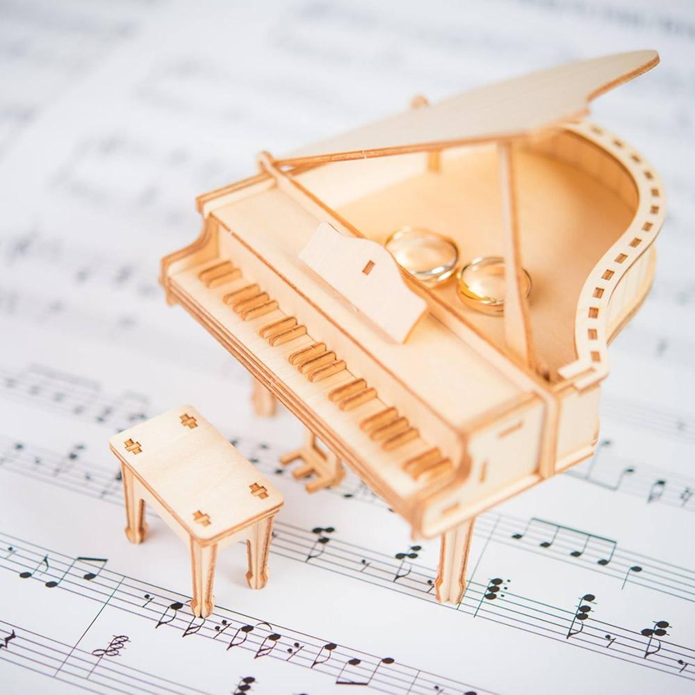 JIGZLE 3D木拼圖 鋼琴儲物盒