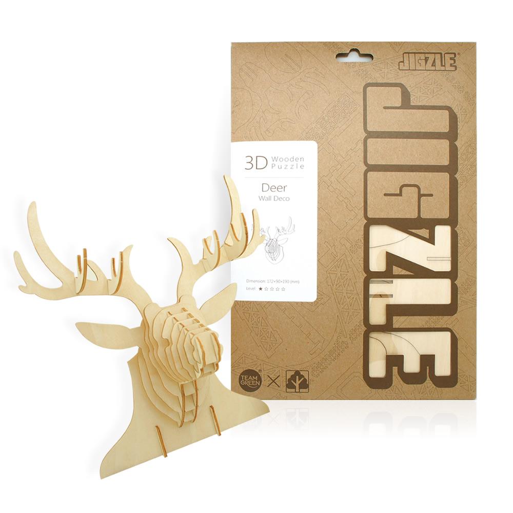 JIGZLE|3D木拼圖 麋鹿飾品架