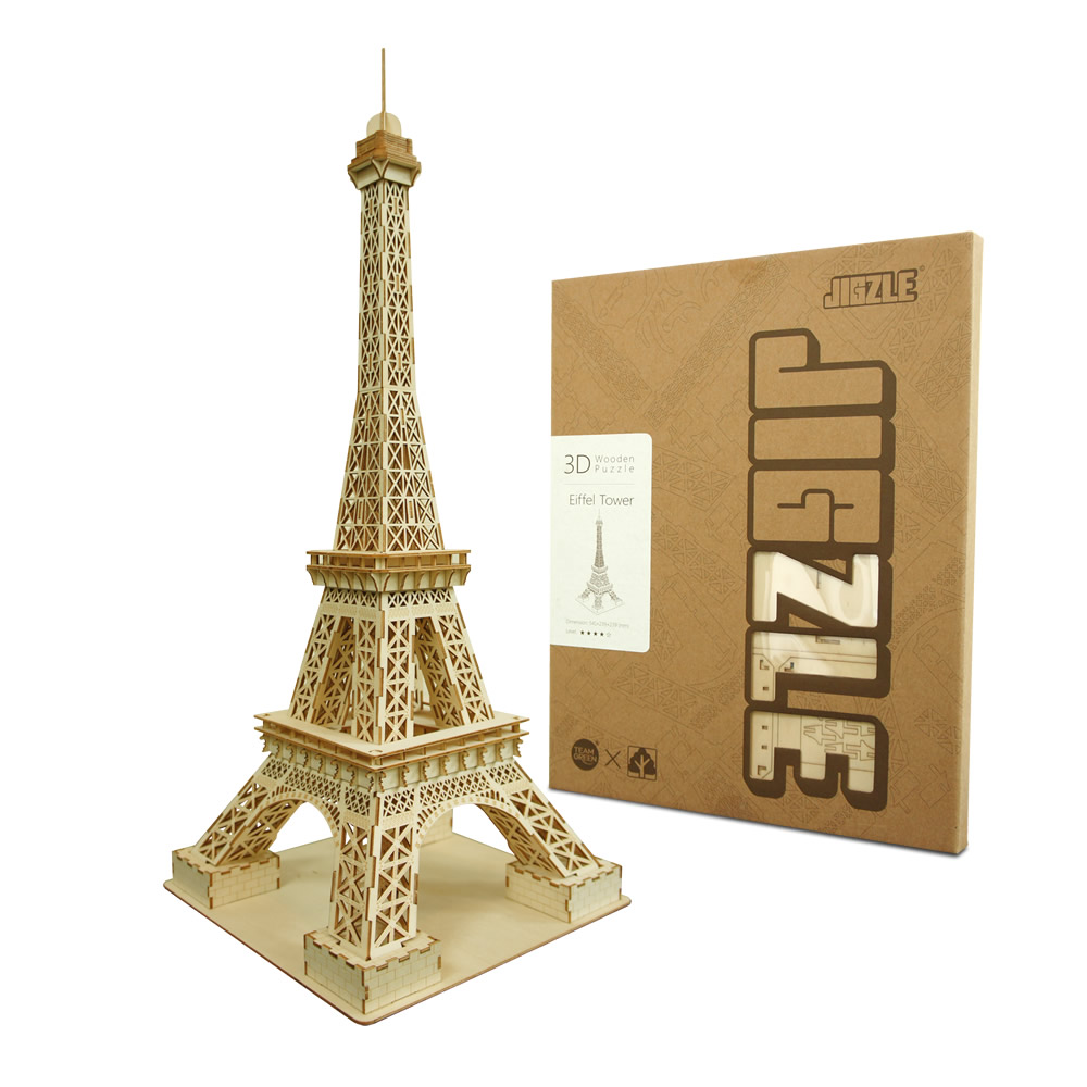 JIGZLE 3D木拼圖 艾菲爾鐵塔-(大)