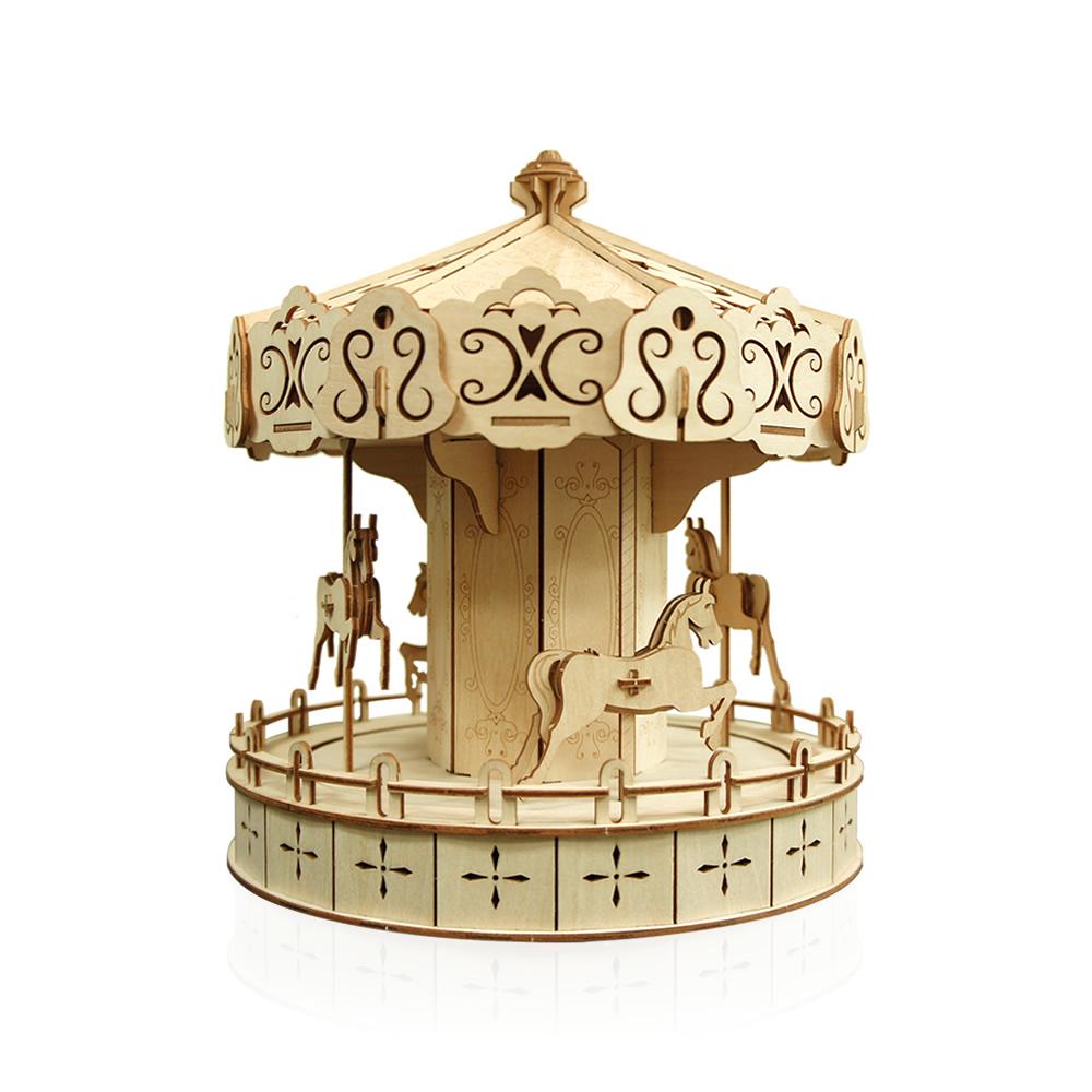 JIGZLE|3D木拼圖 迷你旋轉木馬