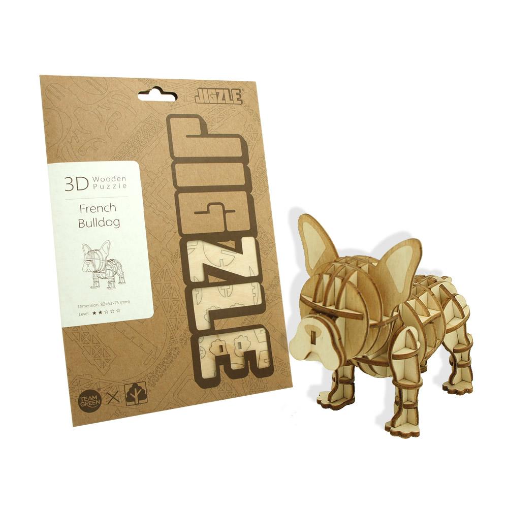 JIGZLE|3D木拼圖 法國鬥牛犬