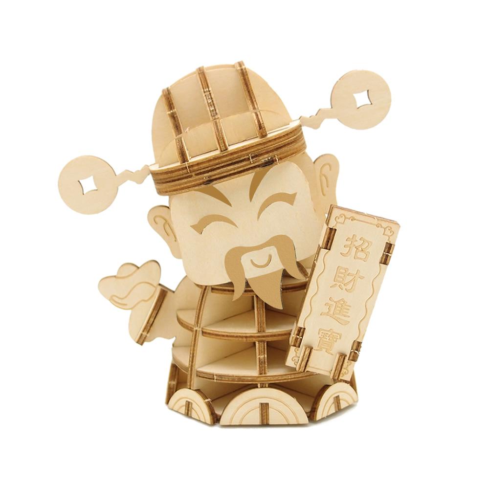 JIGZLE|3D木拼圖 財神爺-(大)