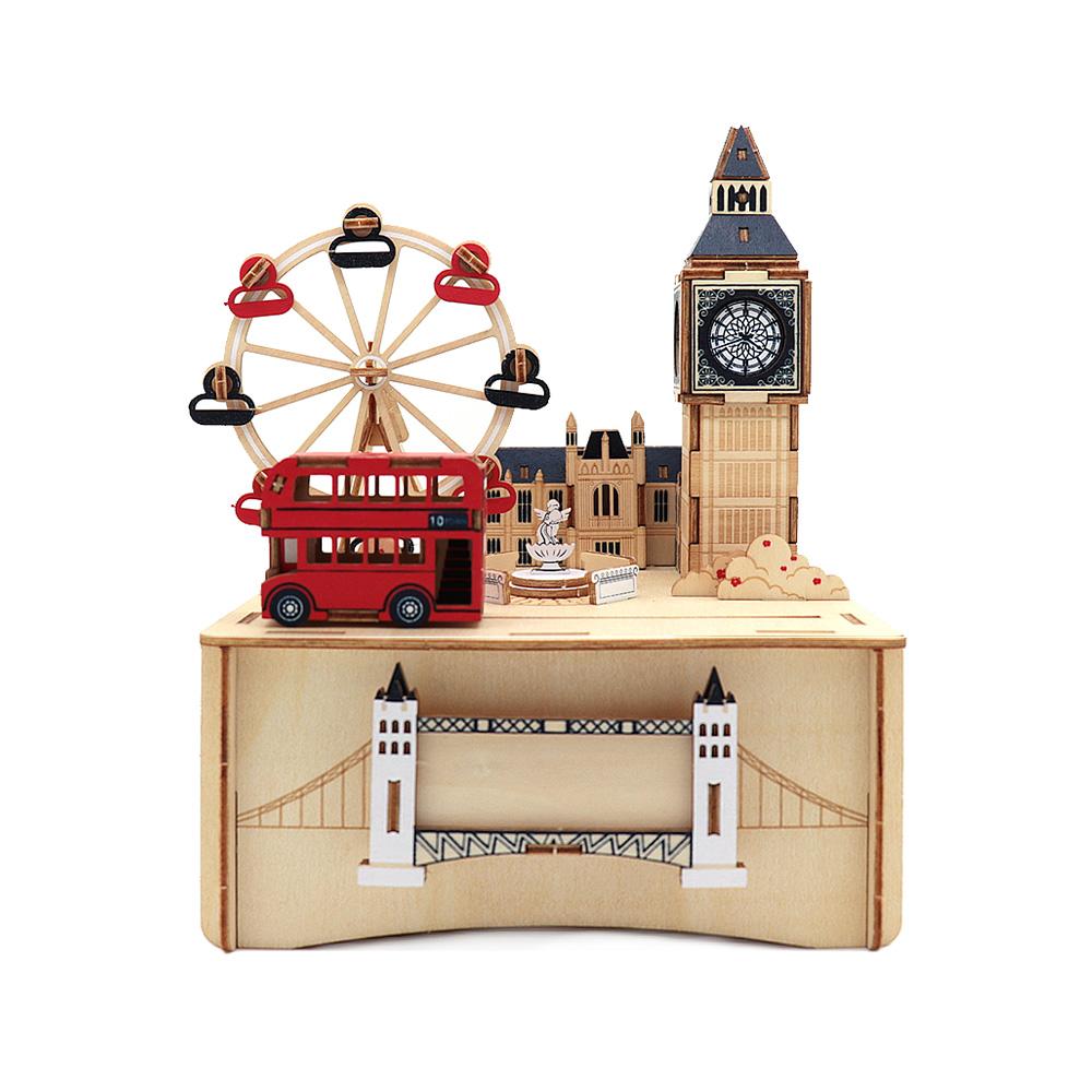 JIGZLE|3D木拼圖 彩色音樂盒-倫敦