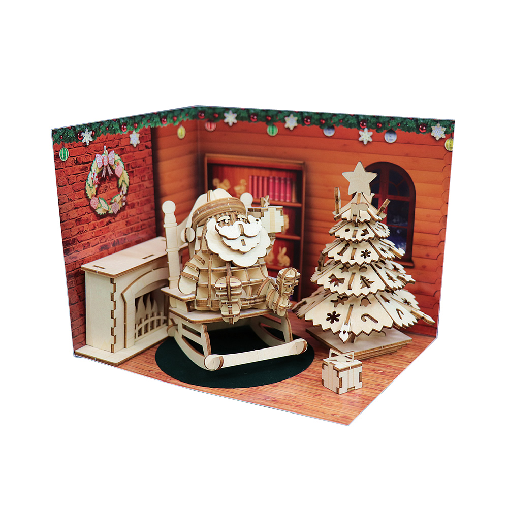 JIGZLE 3D木拼圖 聖誕節禮品套組-限量版