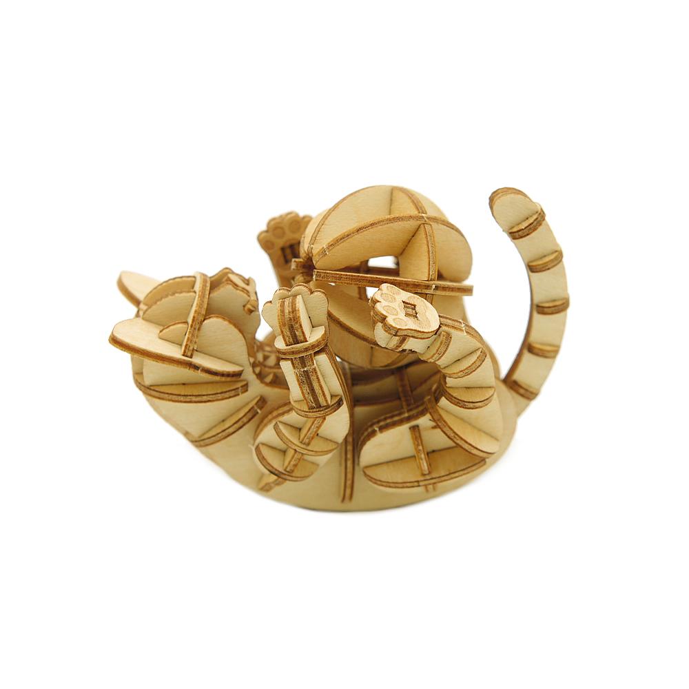 JIGZLE|3D木拼圖 玩耍的貓