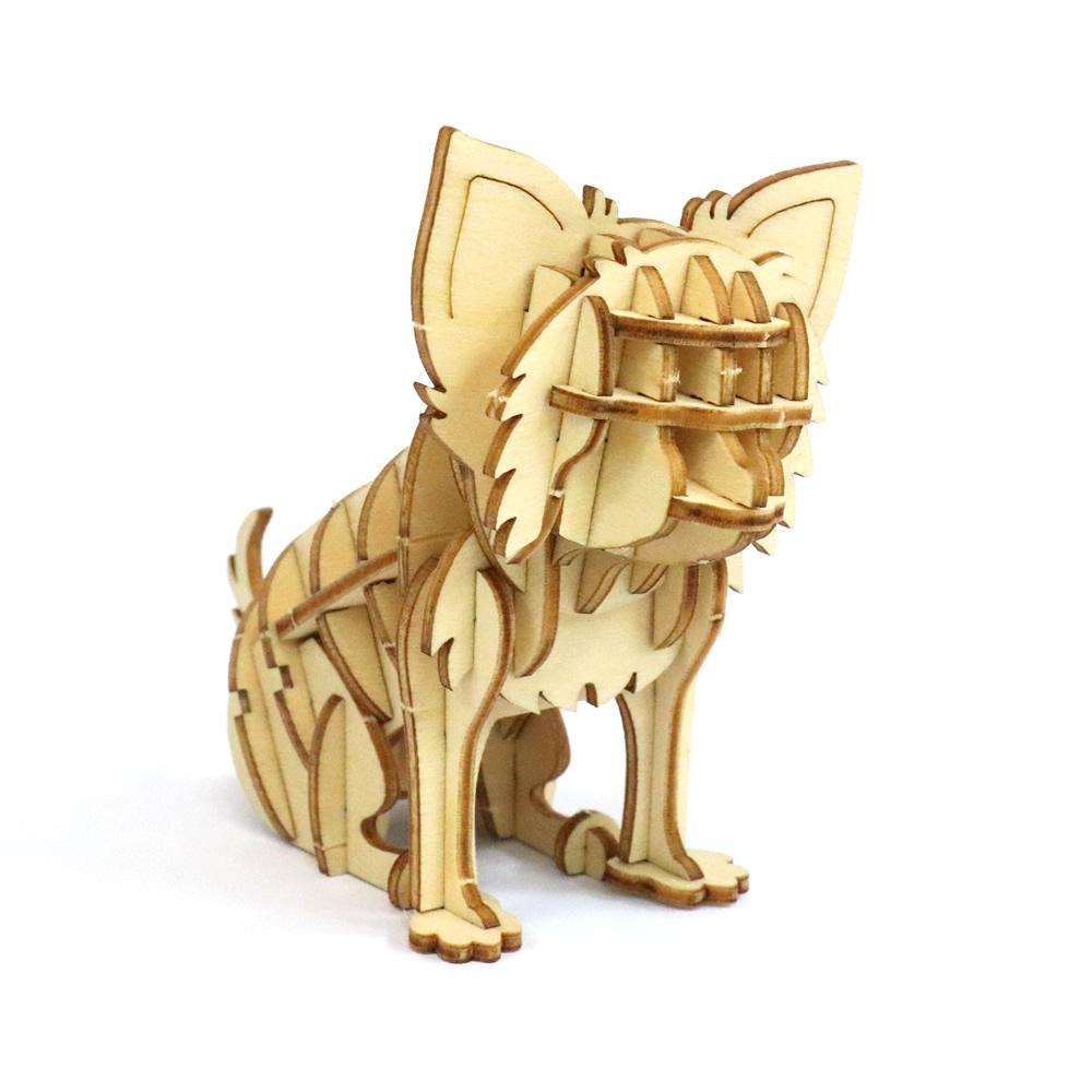 JIGZLE|3D木拼圖 吉娃娃犬