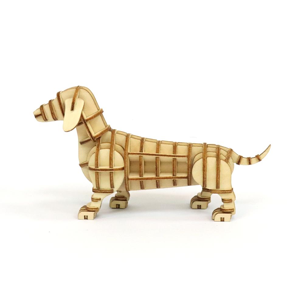 JIGZLE|3D木拼圖 臘腸犬