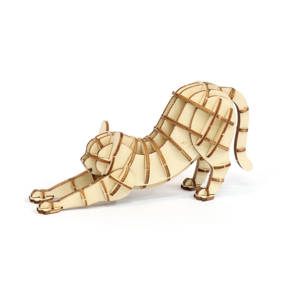 JIGZLE|3D木拼圖 伸展的貓