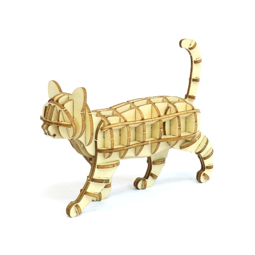 JIGZLE|3D木拼圖 步行的貓