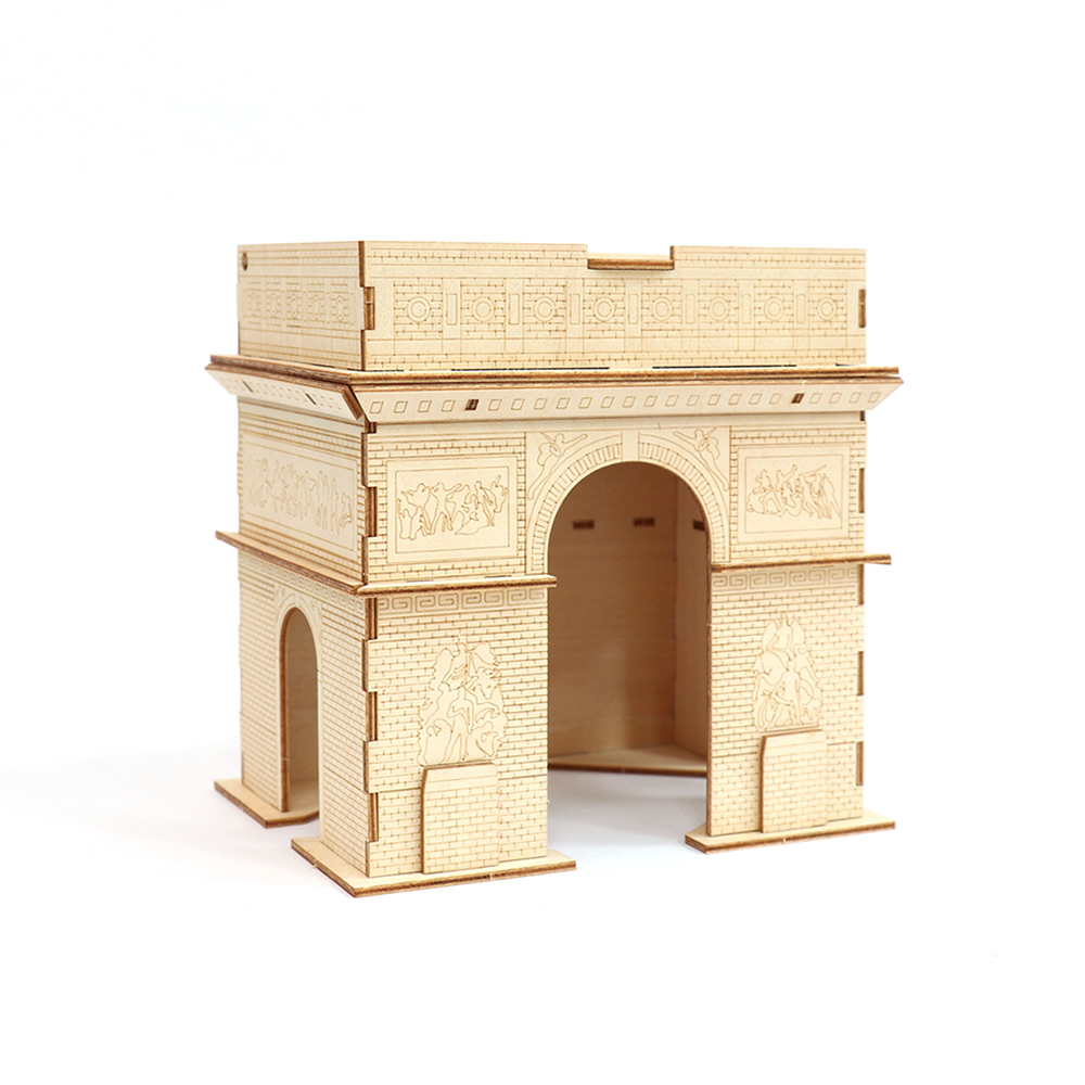 JIGZLE|3D木拼圖 生活收納-巴黎凱旋門