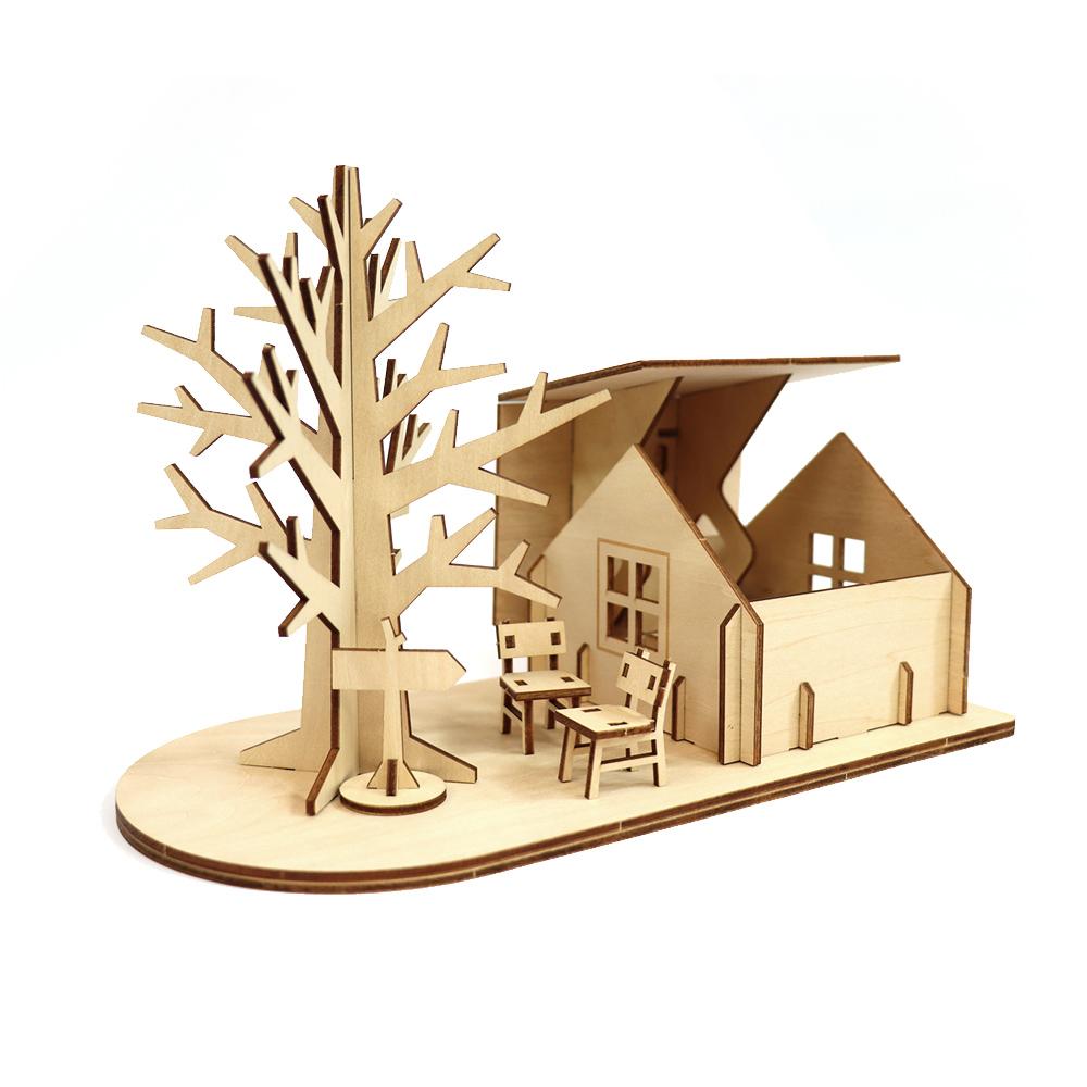 JIGZLE|3D木拼圖 生活收納-樹屋