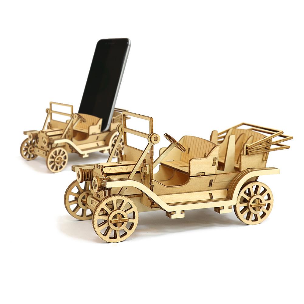 JIGZLE|3D木拼圖 生活收納-經典汽車電話架