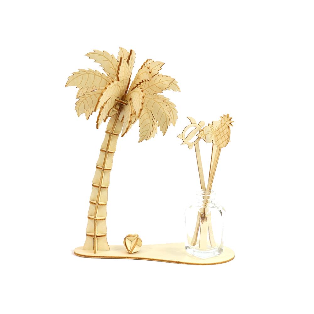 JIGZLE|3D木拼圖 椰子樹香氣架