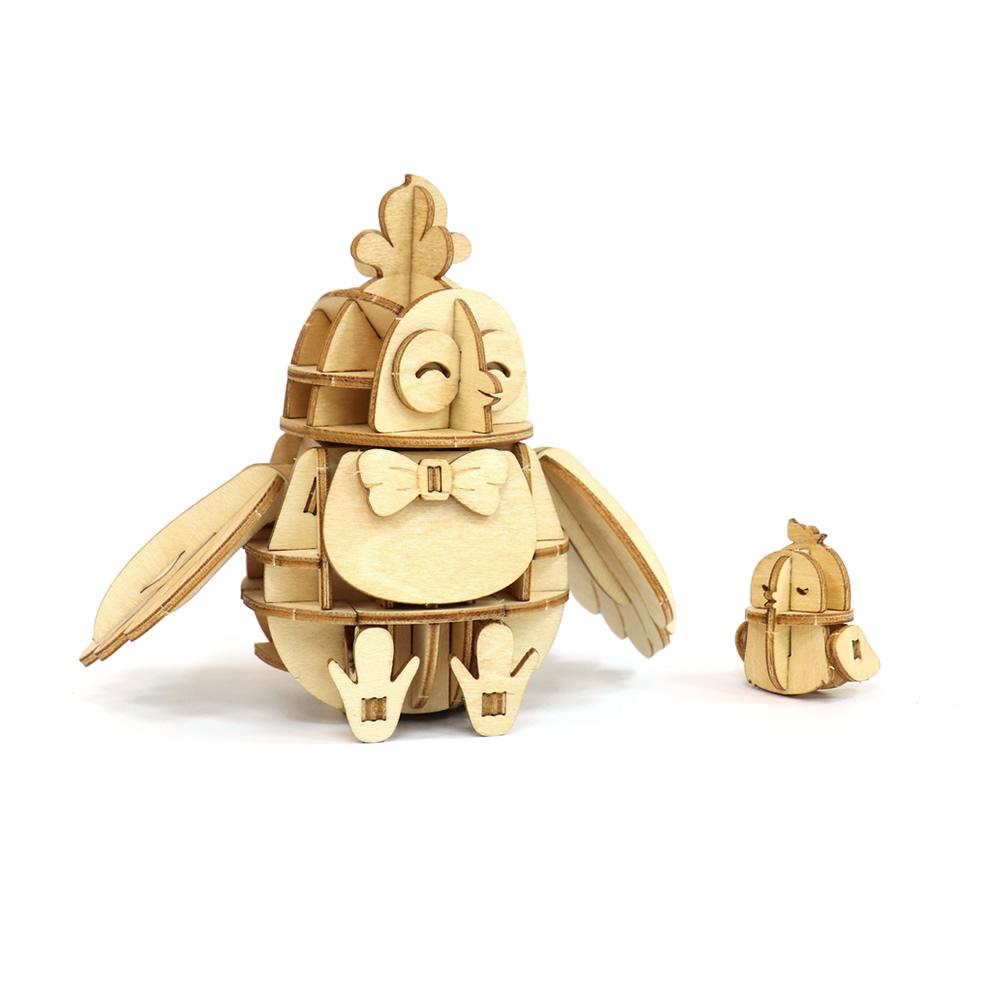 JIGZLE|3D木拼圖 公雞