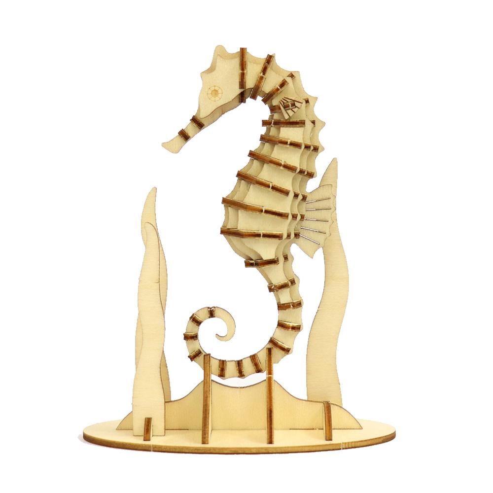 JIGZLE|3D木拼圖 海馬