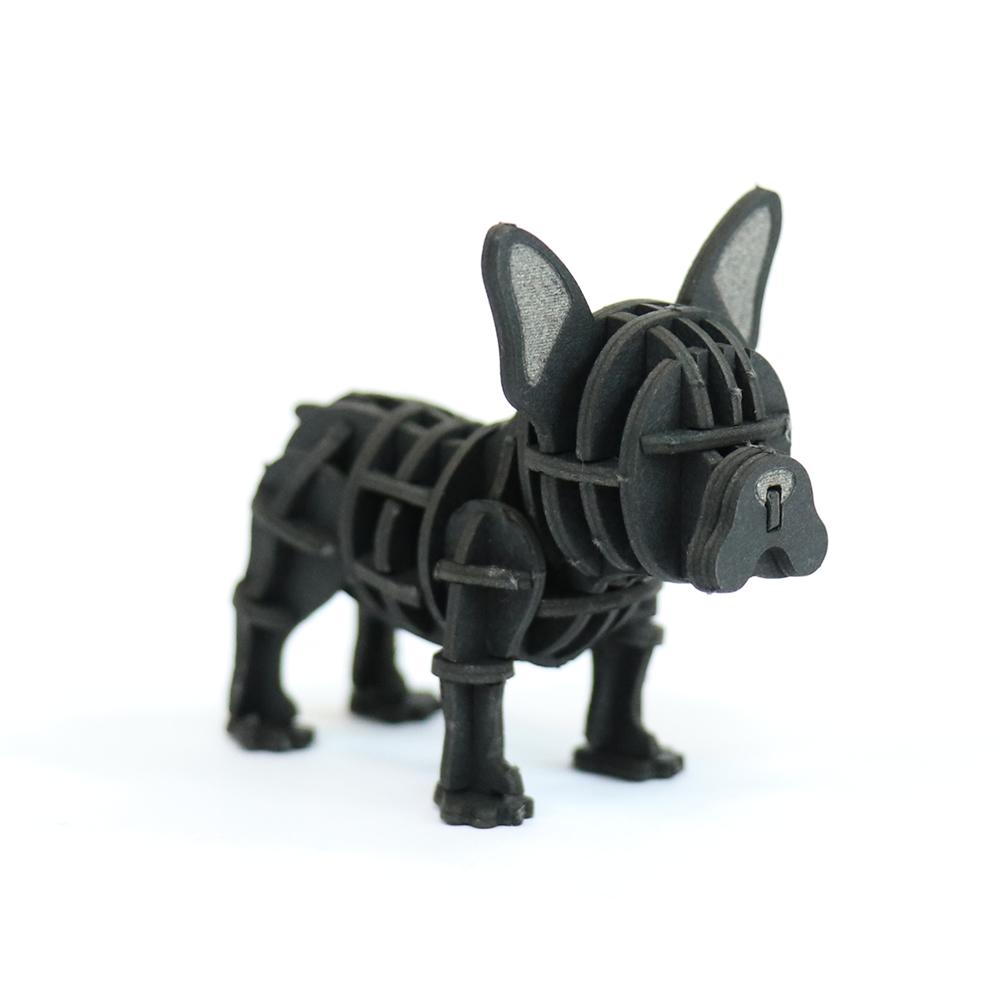 JIGZLE|3D紙拼圖 法國鬥牛犬